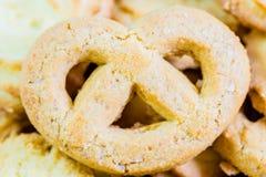 Danish butter cookies macro closeup Stock Photo
