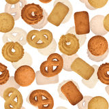 Danish butter cookies - seamless vector texture Stock Photography