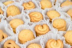 Danish Butter Cookies in set Stock Photos