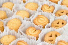 Danish Butter Cookies in set Stock Images