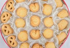 Danish Butter Cookies in set Stock Photo