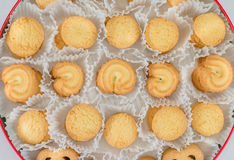 Danish Butter Cookies in set Royalty Free Stock Images