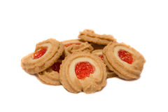 Danish butter cookies. A traditional holiday treat Stock Photos