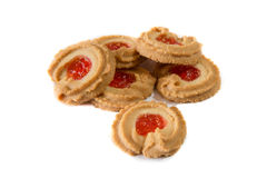 Danish butter cookies. A traditional holiday treat Royalty Free Stock Images