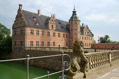 Danish castle. Left wing of a castle in Denmark Stock Photo