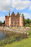 Danish castle and garden Stock Photo