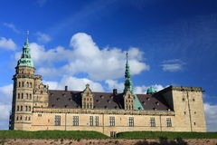 The Danish castle Kronborg in Helsingor. View from the cityside Stock Photos