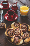 Danish chocolate rolls Stock Images