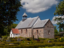 Danish Church. Small danish protestant church captured on a sunny summers day Royalty Free Stock Photo