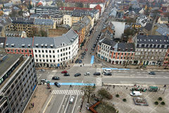 Danish city Frederiksberg seen from above. In birds view Stock Images