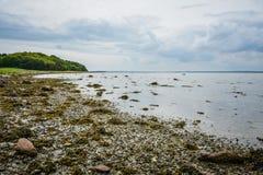 Danish coastline at Aarhus Bay Stock Photos