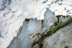 Danish coastline with the tourist attraction the white cliffs of Stock Images