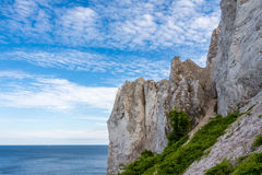 Danish coastline with the tourist attraction the white cliffs of Royalty Free Stock Photo