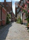 Danish Cobblestone street Stock Photos