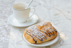 Danish and coffee cup Stock Photography