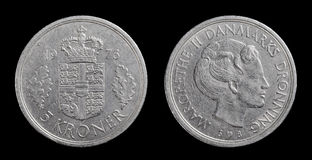 Danish Coin Stock Photo