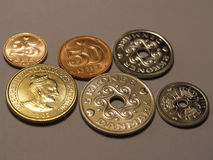 Danish coins. Selection of Danish coins royalty free stock image
