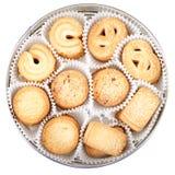 Danish Cookies in round box Stock Photography