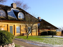 Danish cottage. In the little town Gl. Holte Stock Photo