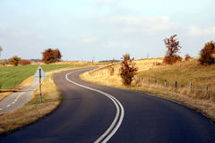 DANISH COUNTRY ROAD Royalty Free Stock Images