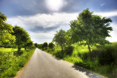 Danish country road Stock Photos