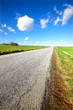 Danish country road in early spring Stock Photography