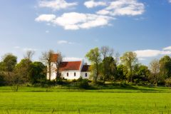 Danish countryside church Stock Photography
