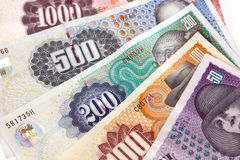 Danish currency. Close-up of danish currency bills (krona Stock Photos