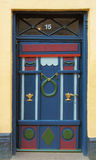 Danish Door. A colorful old door in a small town in the western part of Jutland in Denmark Stock Photos