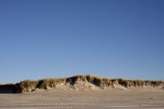 Danish dunes sky blue stock photos