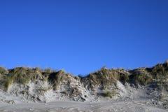 Danish dunes sky blue royalty free stock photos