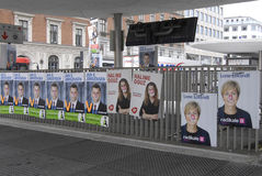 DANISH ELECTIONS POSTERS Stock Images