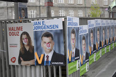 DANISH ELECTIONS POSTERS Royalty Free Stock Image