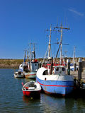 Danish fishing boat Stock Photo
