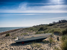 Danish Fjellerup beach in Djurs Stock Photography