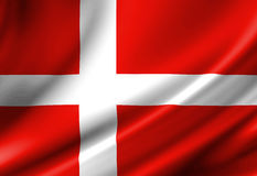 Danish flag Royalty Free Stock Images