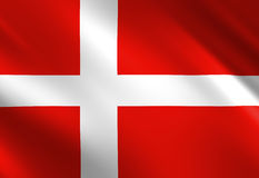 Danish flag Stock Photos