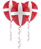 Danish flag balloon Stock Photos