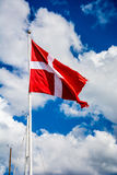 The danish flag Royalty Free Stock Images