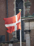 Danish flag. In the centre of Copenhagen, Denmark Royalty Free Stock Photos