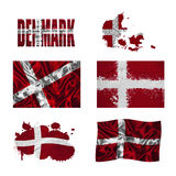 Danish flag collage Royalty Free Stock Photography