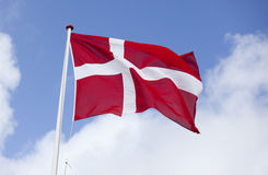Danish flag. Denmark. Stock Image