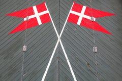 Danish flag. S on a door Royalty Free Stock Photos