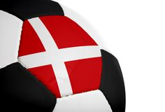 Danish Flag - Football Stock Images