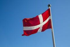 Danish Flag. Photograph of the Danish Flag called Dannebrog Stock Image
