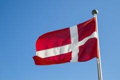 Danish Flag. Photograph of the Danish Flag called Dannebrog Royalty Free Stock Photos