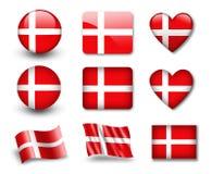 danish flaga ilustracji