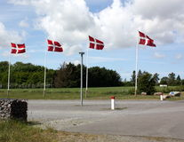 Danish flags Royalty Free Stock Photography