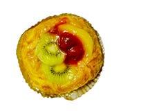 Danish fruit on a white background. Danish mixed fruit pie on white background Royalty Free Stock Photos