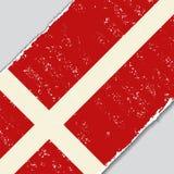 Danish grunge flag. Vector illustration. Royalty Free Stock Photo